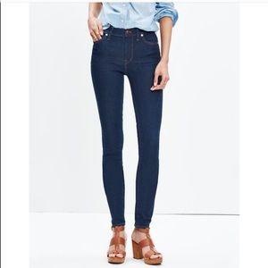 Madewell Skinny Skinny Mid-Rise Dark Wash Jeans